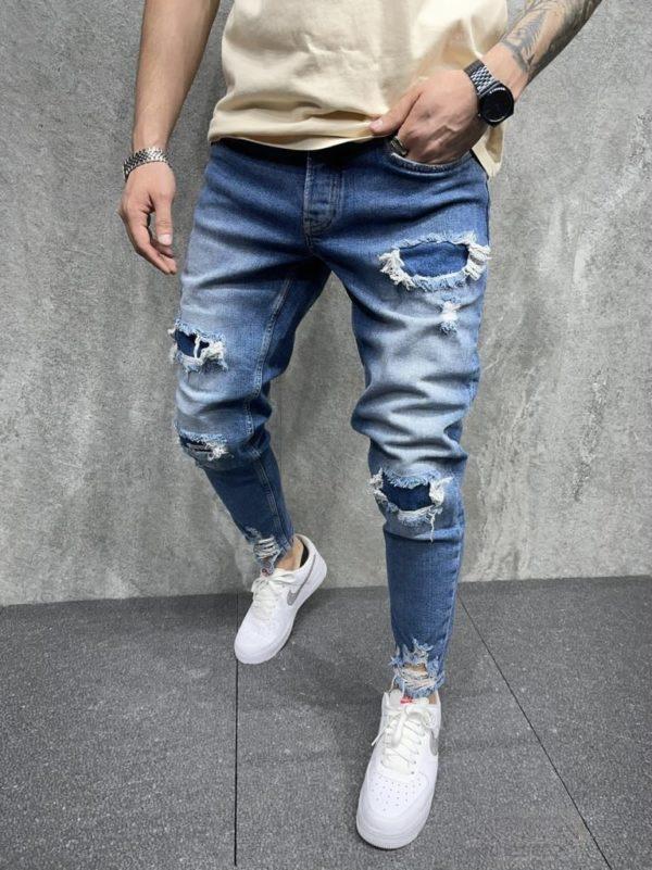 jean homme slim destroy - mode urbaine i0100.