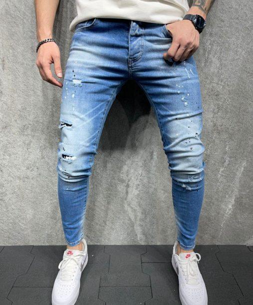 Jean super skinny homme - Jean peinture