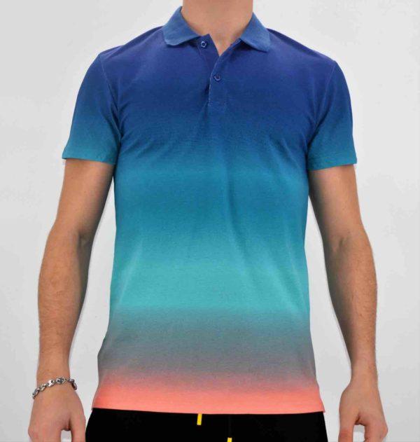 Polo dégradé multicolore homme - Mode urbaine