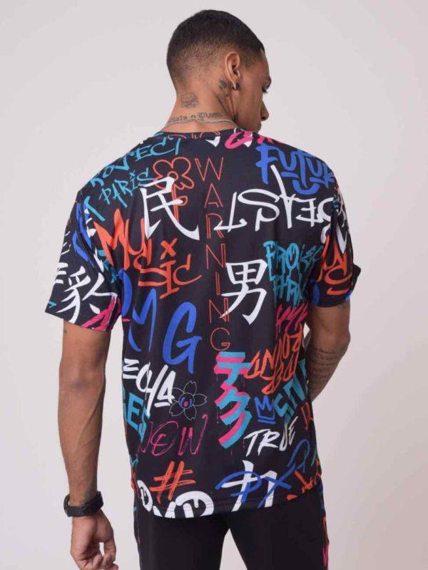 Tshirt project x Paris graffiti noir