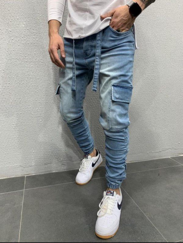 Jogger pants bleu - jog jeans - Mode urbaine