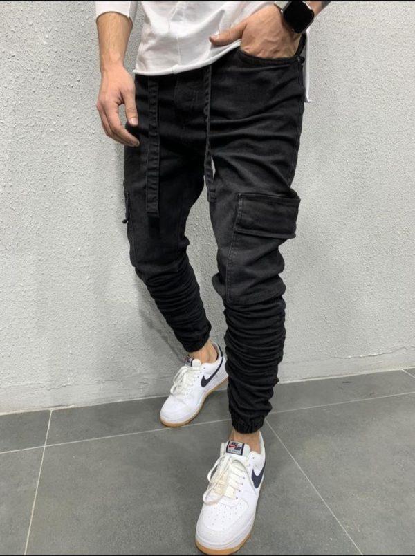 Jogger pants noir - jog jeans - Mode urbaine