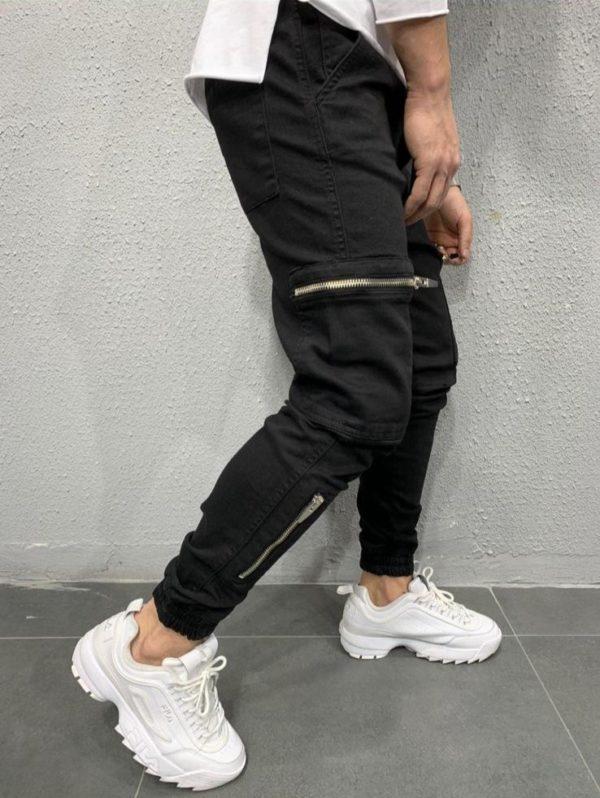 Jogger pants noir - jogger en toile - Mode urbaine