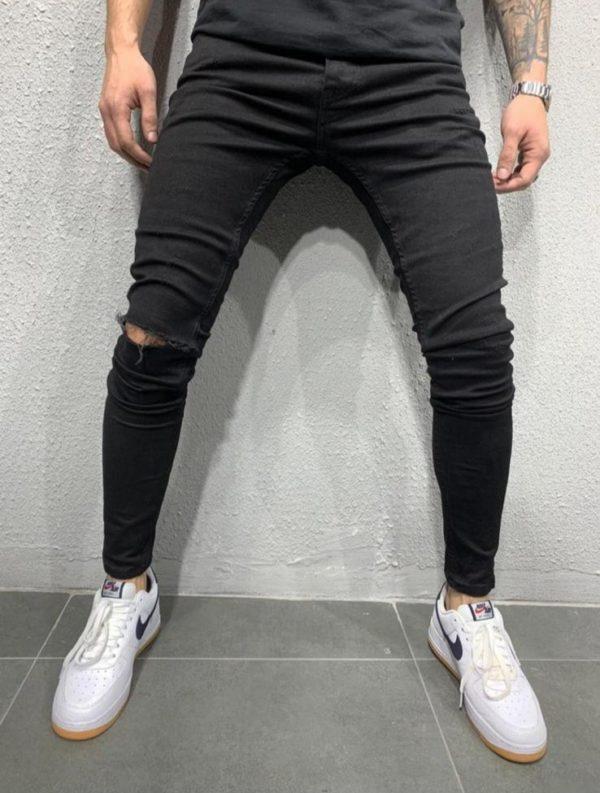 Jean skinny noir destroy homme - Mode urbaine