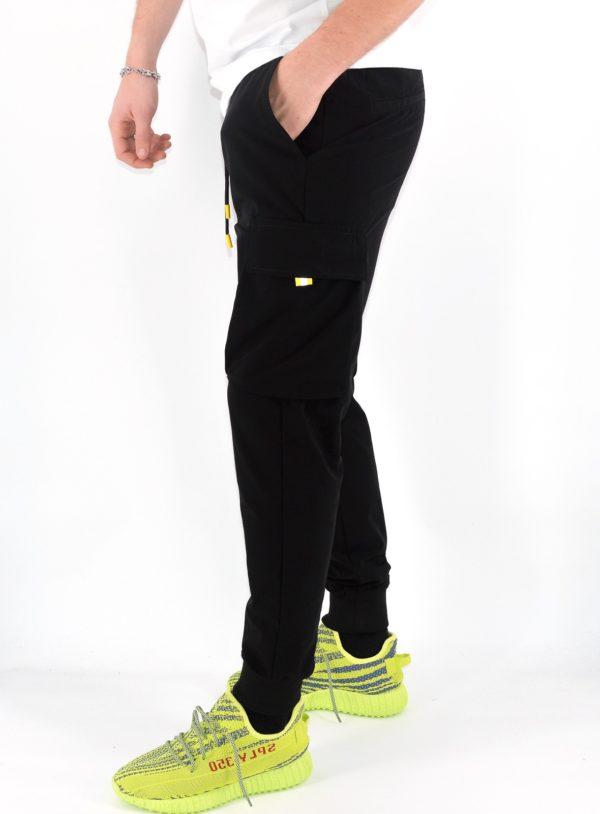 Jogger pants cargo noir - Mode urbaine