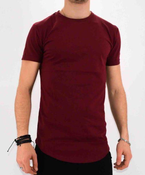T shirt bordeaux oversize homme - Mode urbaine