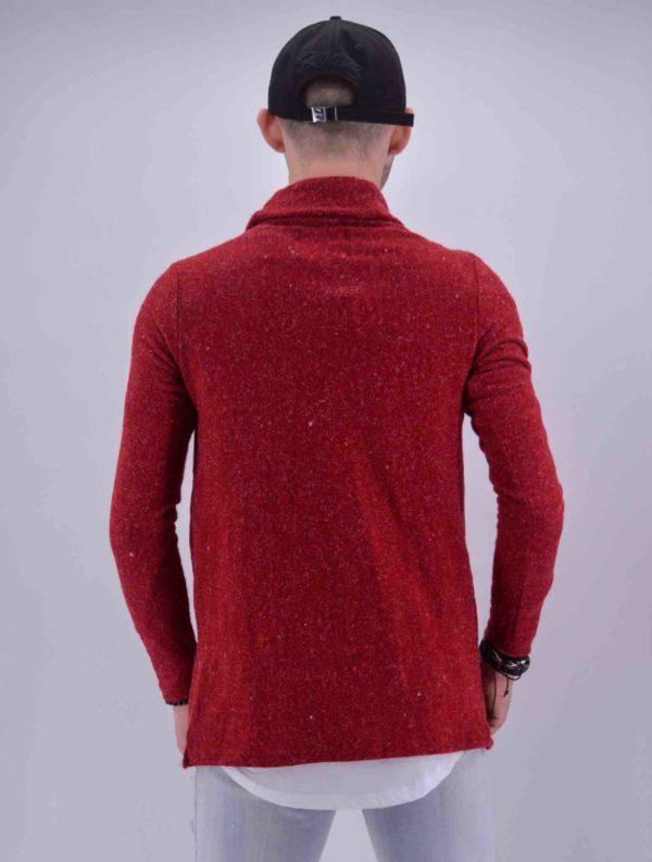 Gilet cardigan Rouge Homme