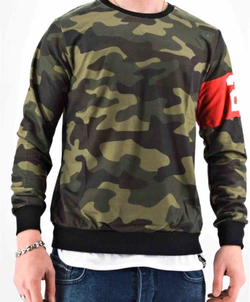 Sweat militaire homme - Mode urbaine