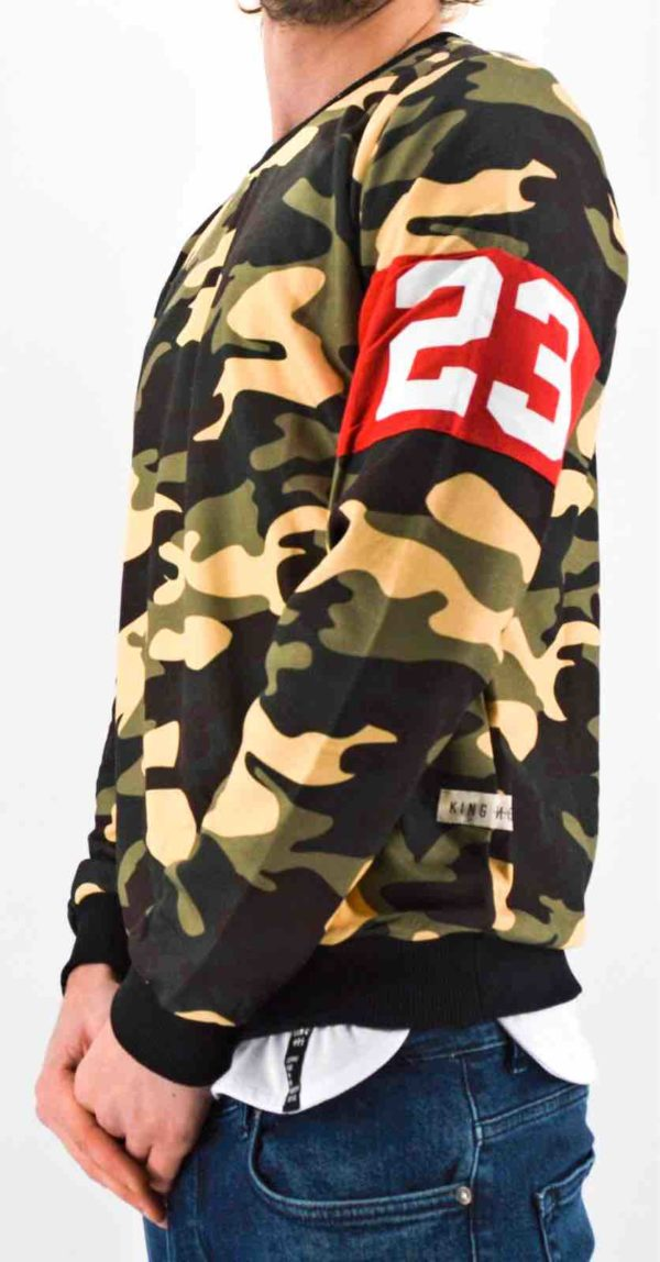 Sweat militaire homme - sweat camouflage