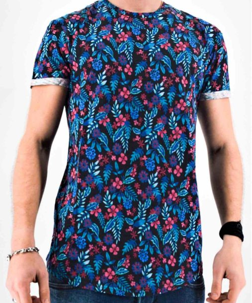 T shirt à fleur homme - Mode urbaine
