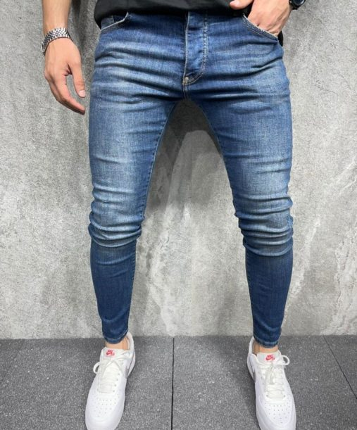 Jeans skinny bleu homme - Mode Urbaine