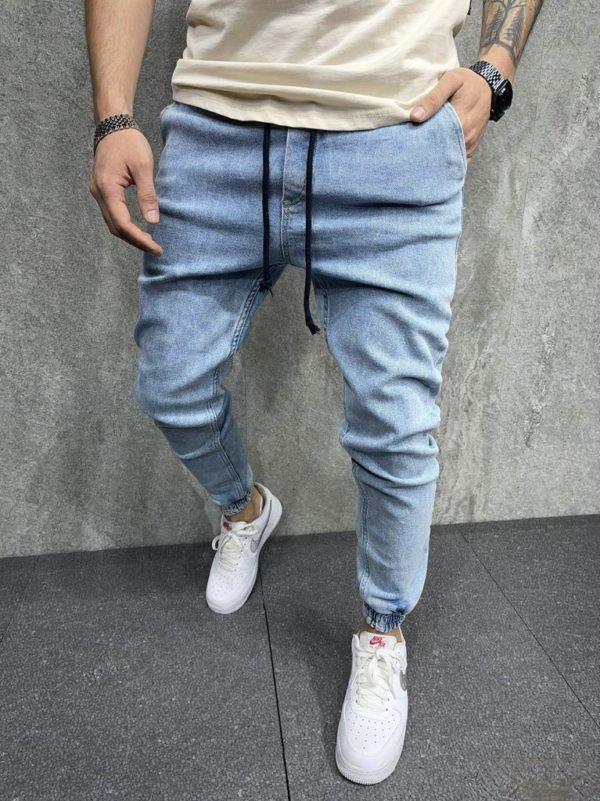 pantalon cargo en jean bleu - Mode urbaine
