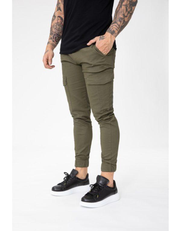 Pantalon jogger cargo kaki - Mode urbaine